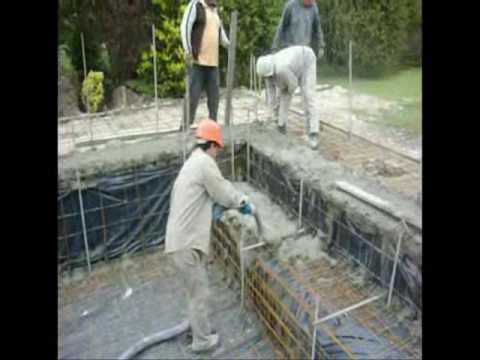 Piletas de nataci n en hormig n proyectado youtube Construir una pileta de ladrillos