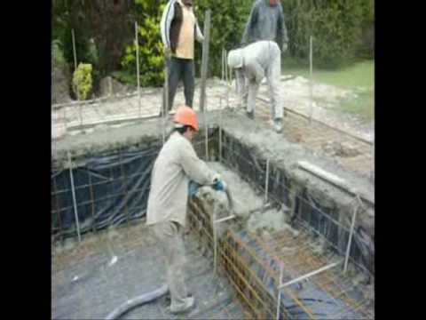 Piletas de nataci n en hormig n proyectado youtube for Pileta material construccion