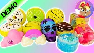 Glutki i zabawki do ściskania test na żywo - dużo rodzajów!