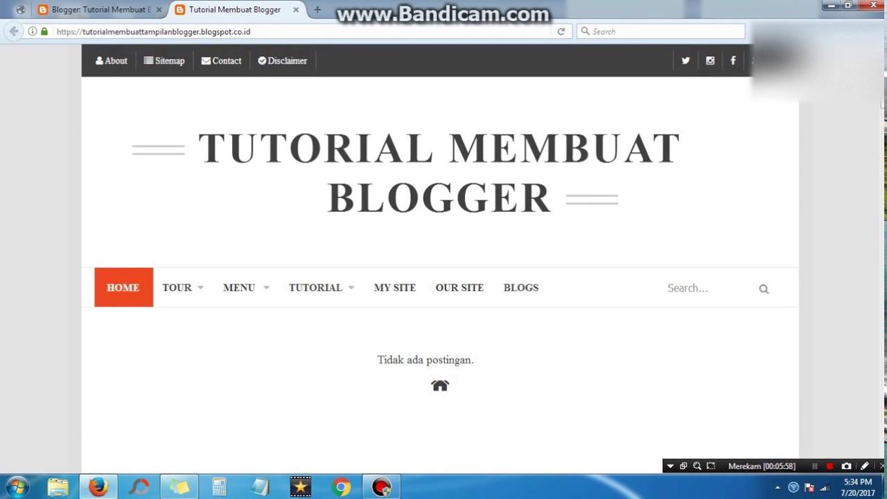 Tutorial Membuat Tampilan Blogger Keren Seperti Website Profesional Youtube