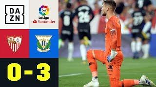 0:3-Klatsche! Sevillanos versagen die CL-Nerven: FC Sevilla - Leganes 0:3 | La Liga |DAZN Highlights