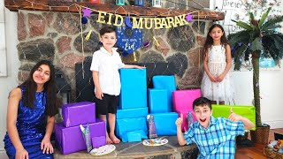 Opening Eid Presents with HZHtube Family Vlogs
