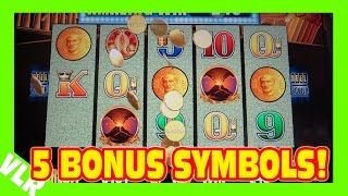Pompeii Deluxe - 5 BONUS SYMBOLS!!! - Nice Win - Slot Machine Bonus