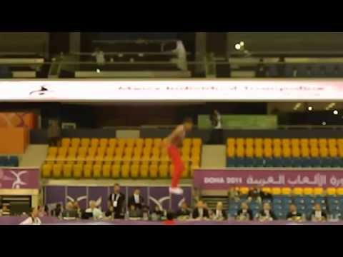Ahmed Abouelela (1st Routine) Egypt - Trampoline Arab Games 2011