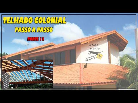 Telhado Colonial 13 do 13 final como calcular   Ripas Caibros e Telhas