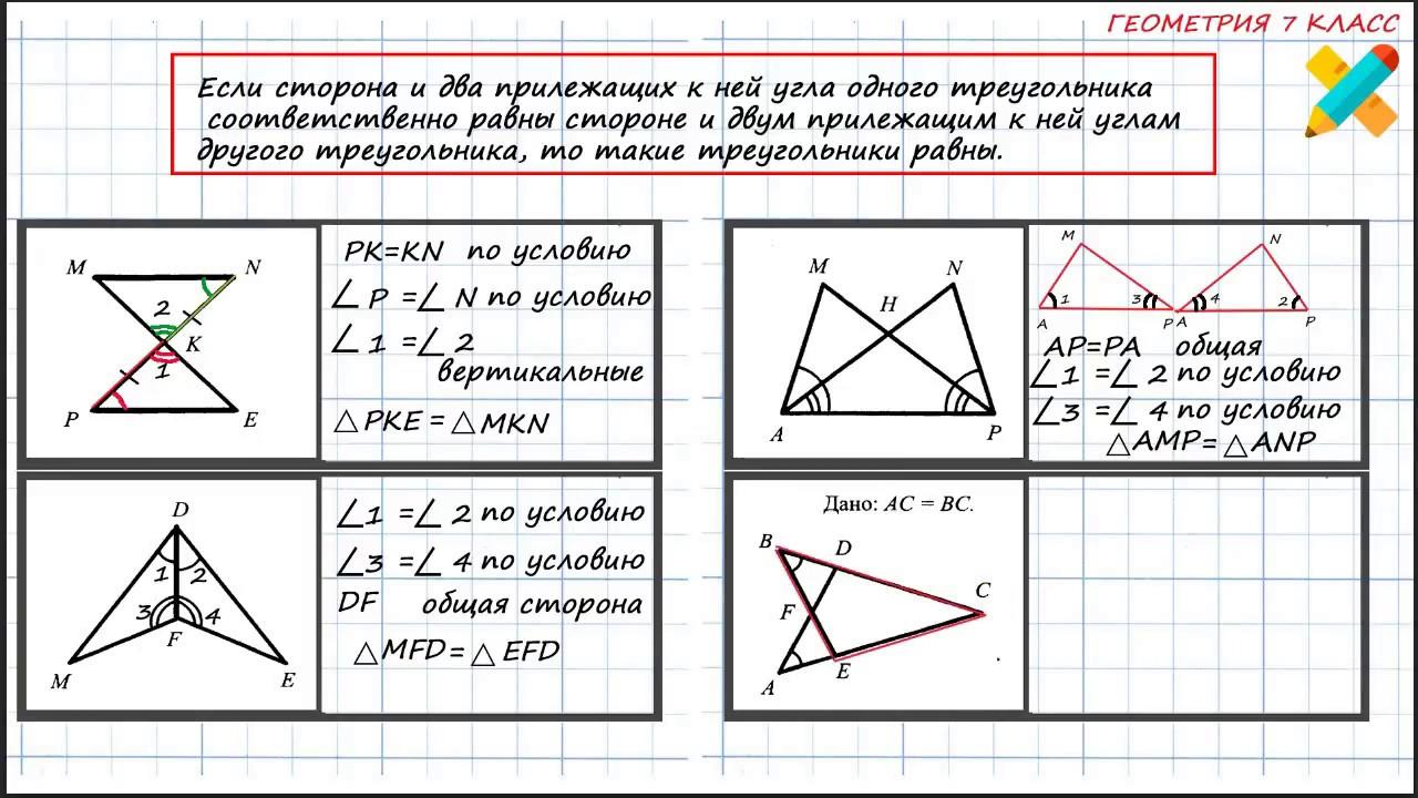 Решение задач равенство треугольников решение задачи в координатах