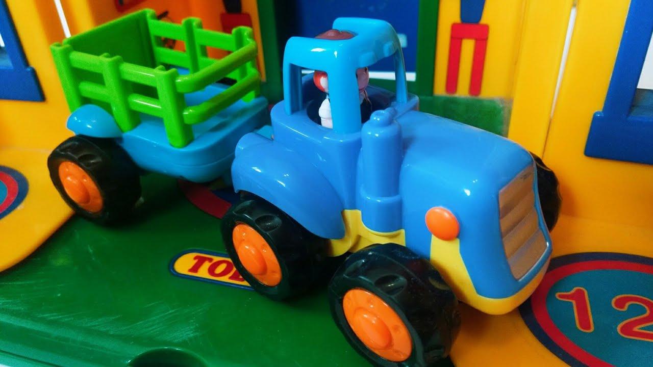 Синий трактор - мультик про машинки - YouTube