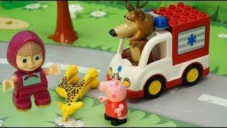 Видео с игрушками - Жираф и скорая помощь. Игрушечные мультфильмы для детей на русском.