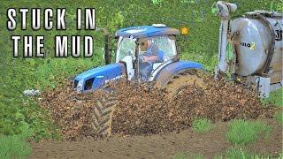 STUCK IN THE MUD | Multiplayer Farming Simulator 17 | Thornton Farm Episode 5