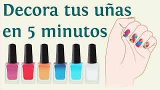 3 formas de decorar tus uñas en 5 minutos: Decoración de uñas rápida, fácil y bonita