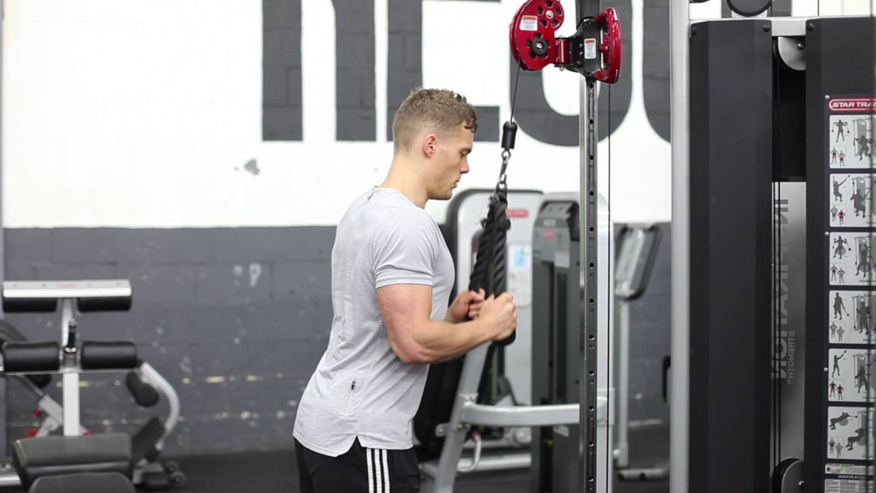 Tricep Rope Extension - YouTube