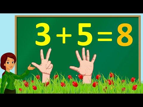 Thanh nấm - Học làm phép toán cộng và tập đếm các ngón tay