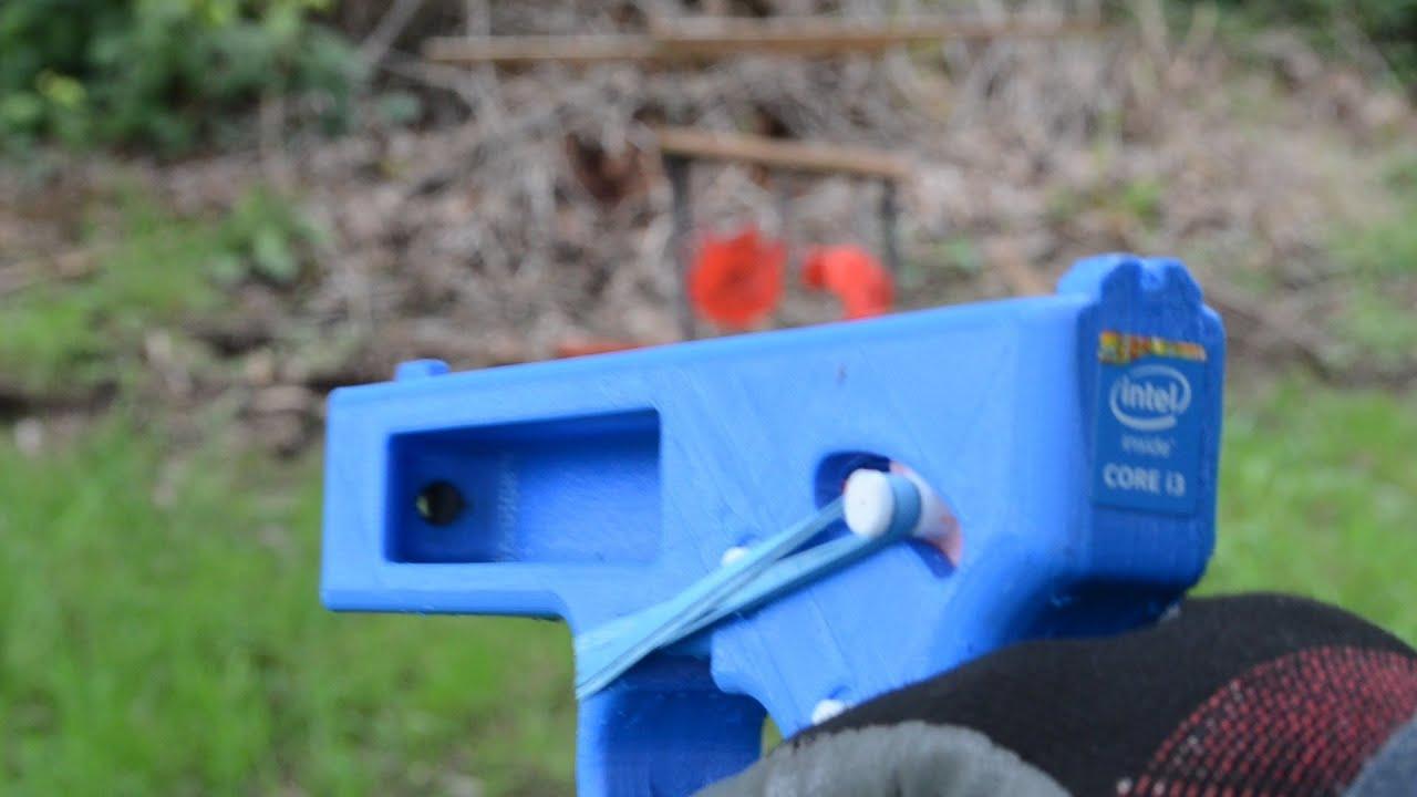 Test Fire Songbird 3d Printed Pistol With Nylon Barrel