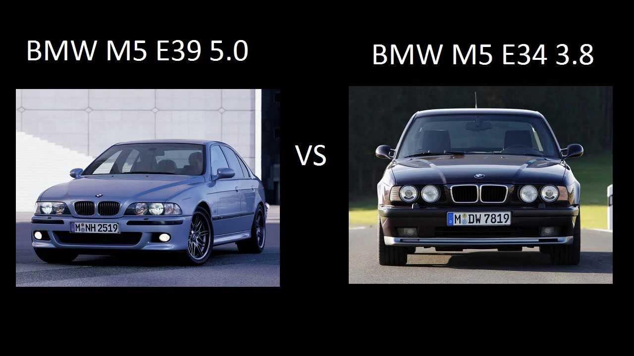 Bmw M5 E39 Vs M5 E34 3 8 Acceleration разгон ускорение Youtube