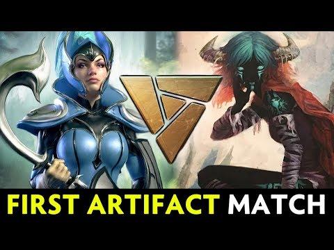 FIRST official Artifact pro match — Dota card game PAX 2018 tournament