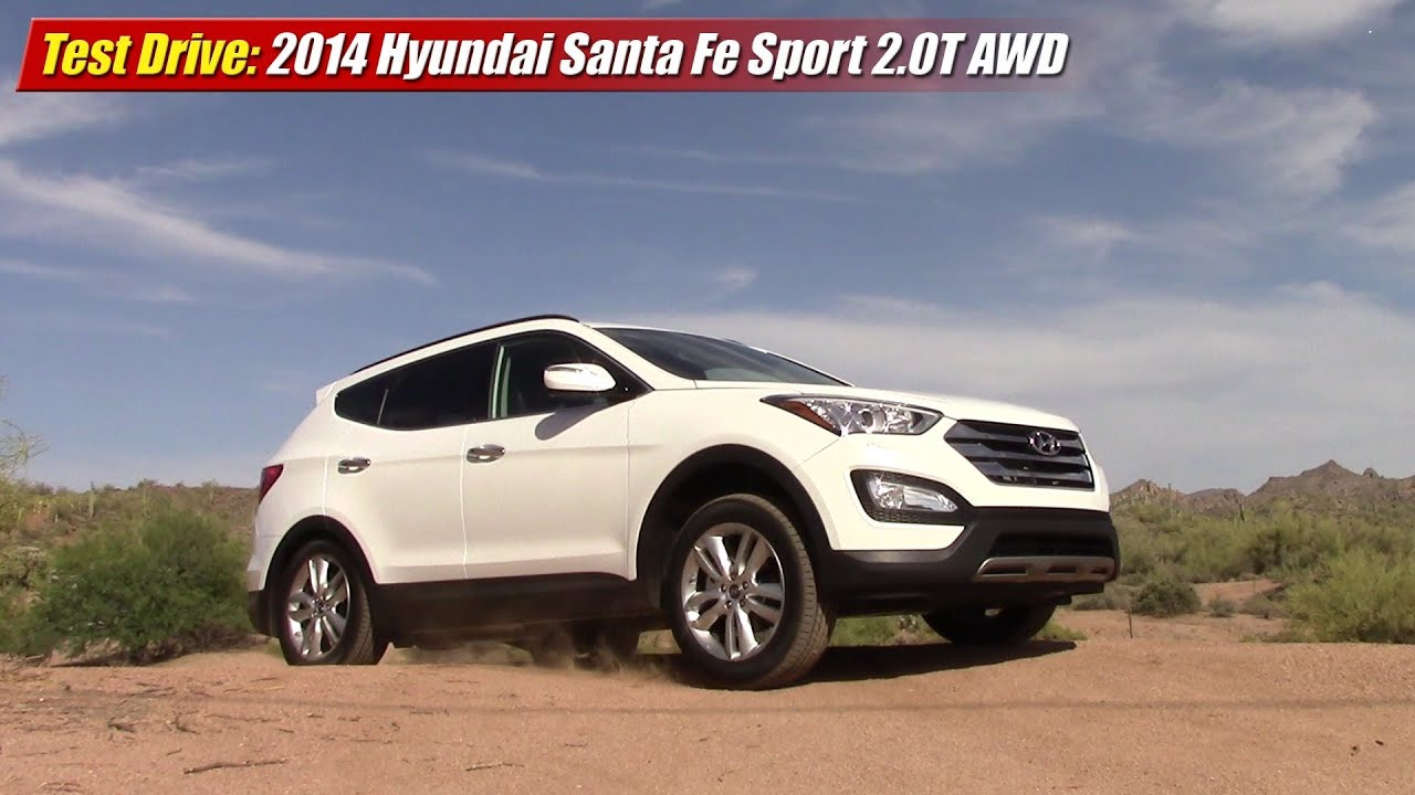 test drive 2014 hyundai santa fe sport 2 0t awd youtube. Black Bedroom Furniture Sets. Home Design Ideas