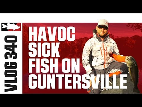 Fishing the Berkley Havoc Sick Fish on Guntersville with Justin Lucas – VLOG #340