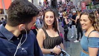 Staring at strangers awkwardly   مقلب نظرات غريبة نيويورك