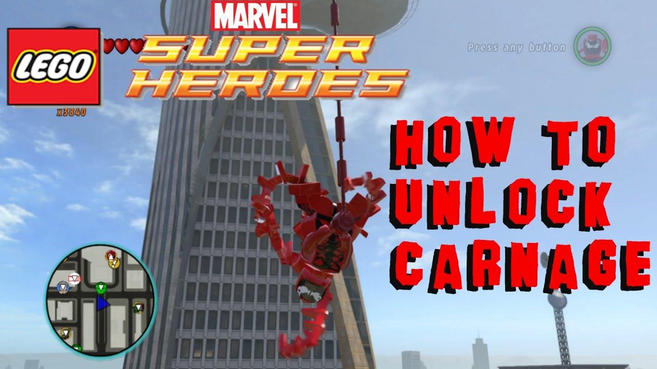 marvel lego unlock carnage