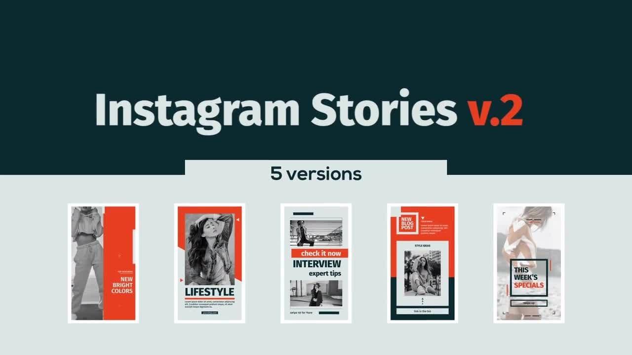instagram stories v 2 after effects templates youtube. Black Bedroom Furniture Sets. Home Design Ideas