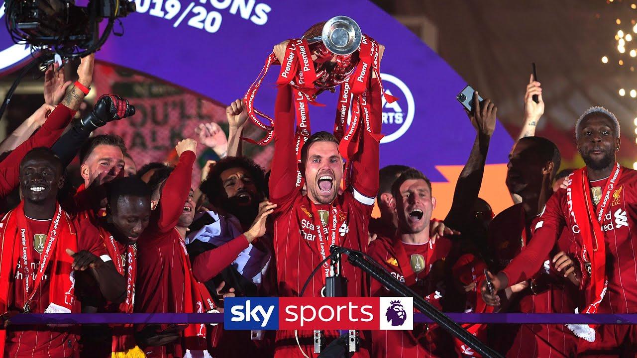Liverpool lift the Premier League trophy!