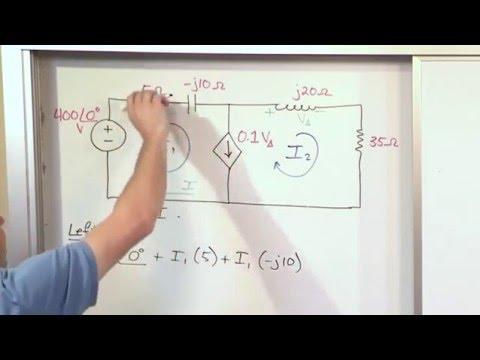 Ac Circuit Analysis Tutor Vol 2 Lesson 14 Mesh Currents Part 3 6