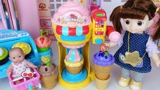 Baby doll Ice cream shop cooking toys surprise eggs car play 아기인형 아이스크림 가게 요리 장난감 자동차 놀이 - 토이몽
