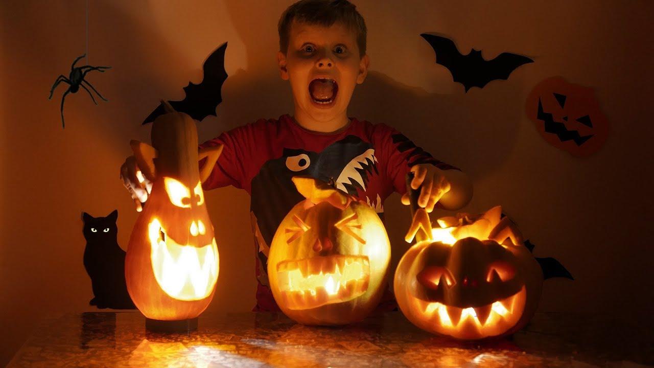 Halloween preparation Best scary pumpkin carving ideas - YouTube