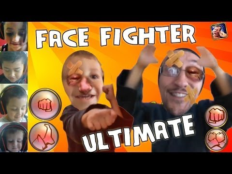 Let's Beat Up Ourselves: Face Fighter Ultimate (5 Player Family iOS Face Cam Gameplay)