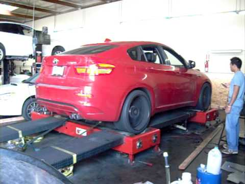 Melbourne Red Bmw X6m Doing A Basline Dyno Youtube