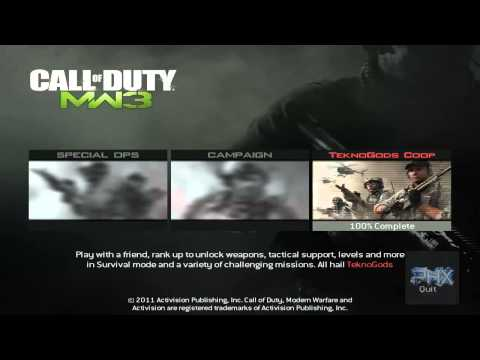 [How To] Play Call of Duty Modern Warfare 3 Spec Ops LAN Offline Or Online Using Tekno MW3 Tutorial