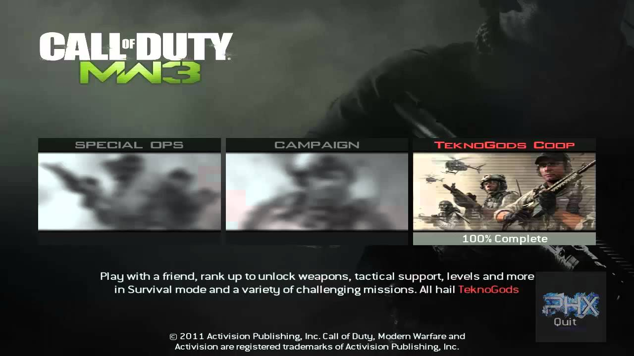 [How To] Play Call of Duty Modern Warfare 3 Spec Ops LAN Offline Or Online Using Tekno MW3 ...