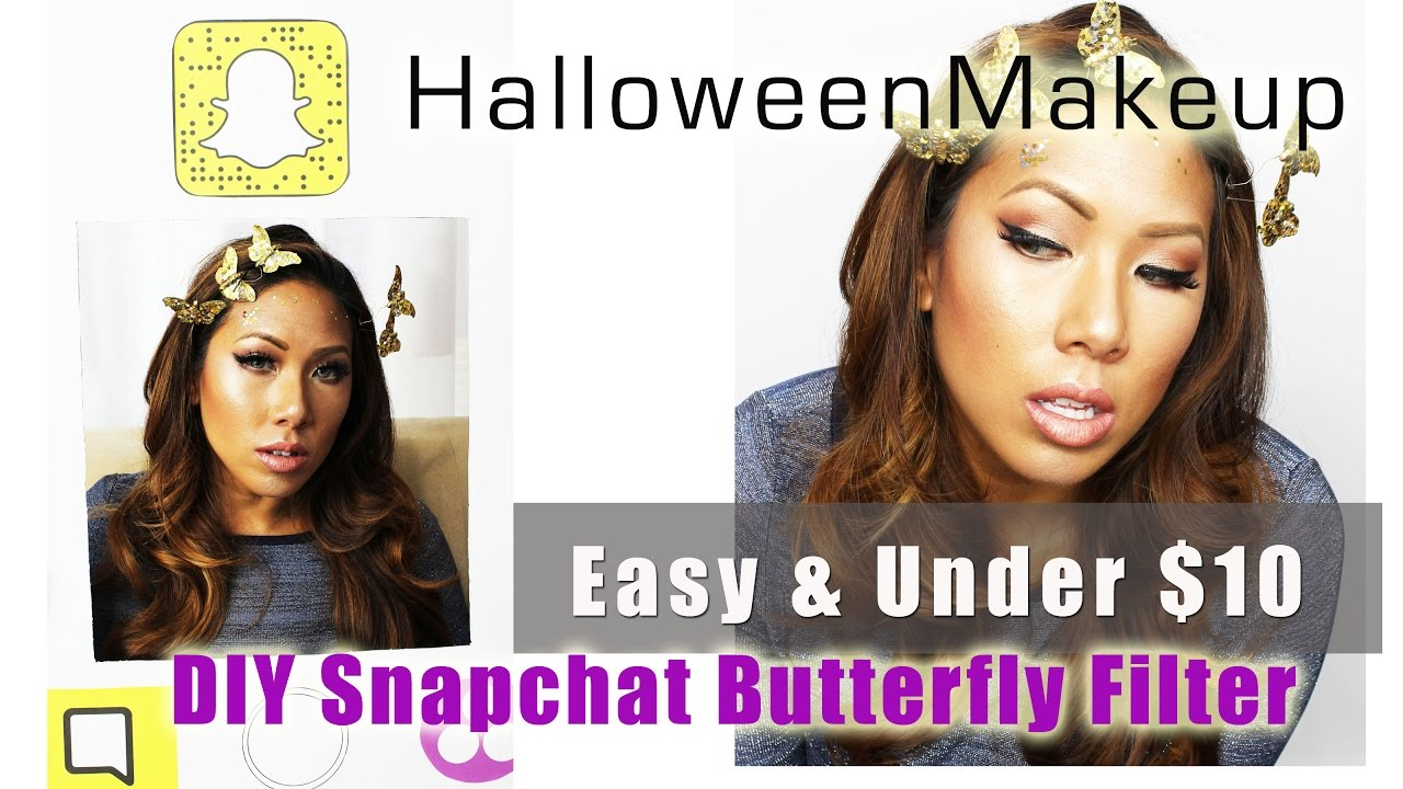 a3ec11a56e9 Halloween Makeup  Snapchat Butterfly Filter - Easy and Under  10 - YouTube