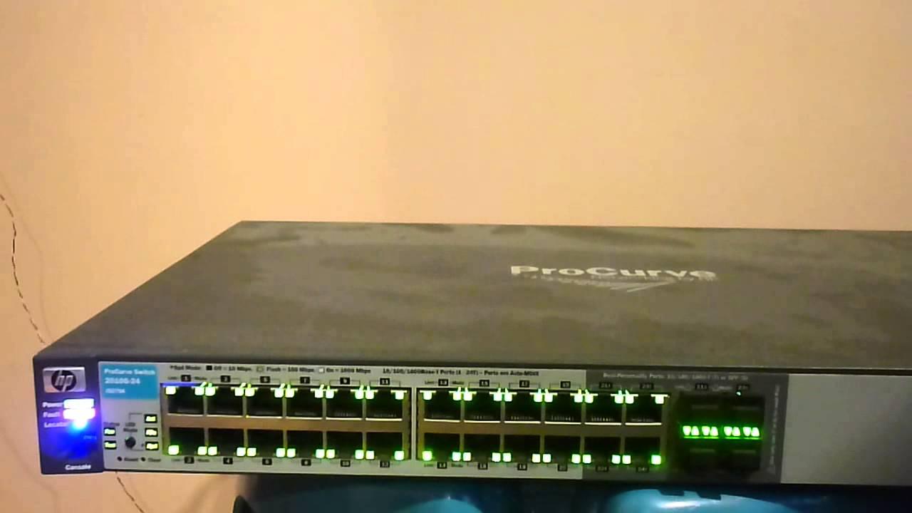 hp procurve switch 2510g 24 j9279a fault youtube rh youtube com HP Air Printers hp procurve 2610-24 switch manual