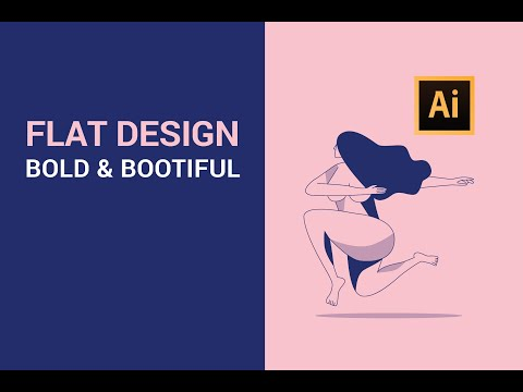 Step by Step Adobe Illustrator Tutorial - Bold & Bootiful | Flat design Illustration (2019) thumbnail