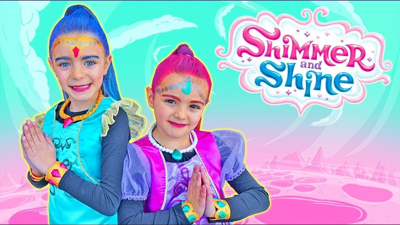 LAS RATITAS PRETEND PLAY SHIMMER AND SHINE WHITE TENNIE GENNIES TOYS!!