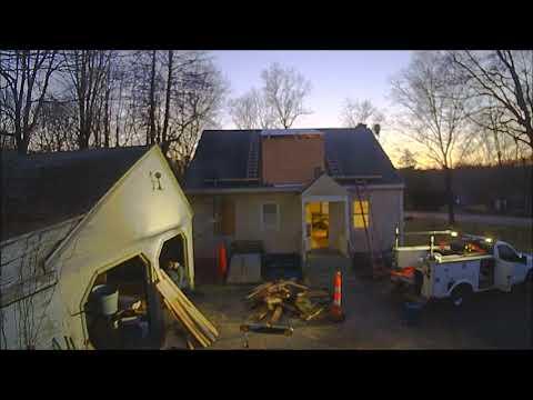 Dormer framing: shed dormer - time lapse