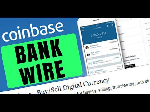 Setting Up A Bank Wire On Coinbase