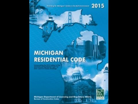 Understanding the Michigan Residential 2015 Energy Code pt 1 of 3 Thermal Envelope