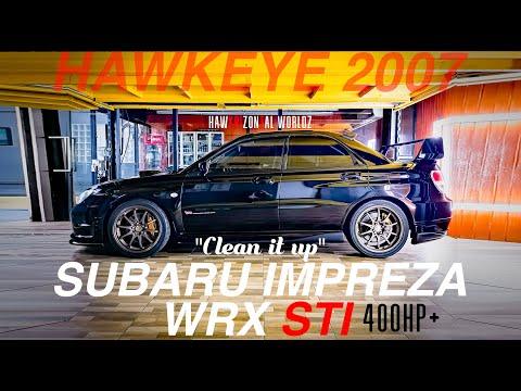 SUBARU IMPREZA STI 2007 (BLACK HAWKEYE) CLEAN IT UP!