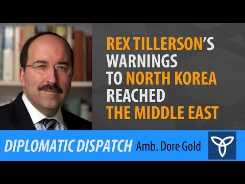 Rex Tillerson's Warnings to North Korea Reached the Middle East