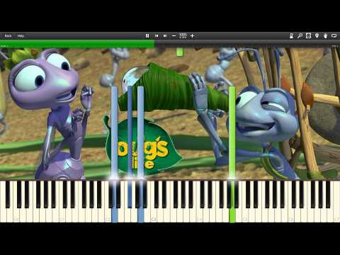 Randy Newman - A Bug's Life Suite - Synthesia Piano Solo Tutorial