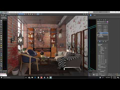 3ds max v-ray lighting and rendering, high quality render vray 3.6 max 2017