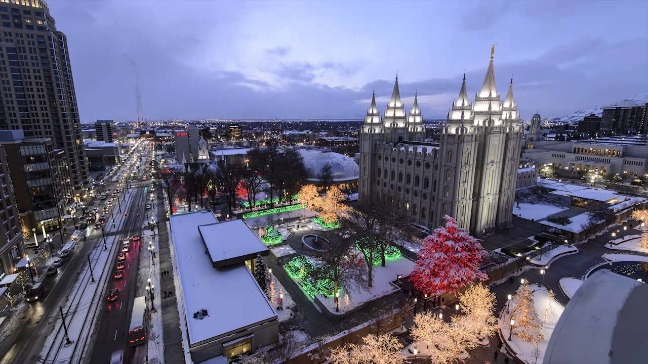 Time-lapse of Christmas Lights on Temple Square - YouTube