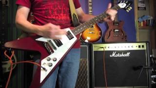 GUITAR TONE - GIBSON SG vs GIBSON FLYING V SOUND DEMO - Barracuda
