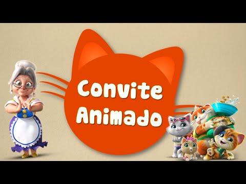 Convite Animado 44 Gatos 😺😻