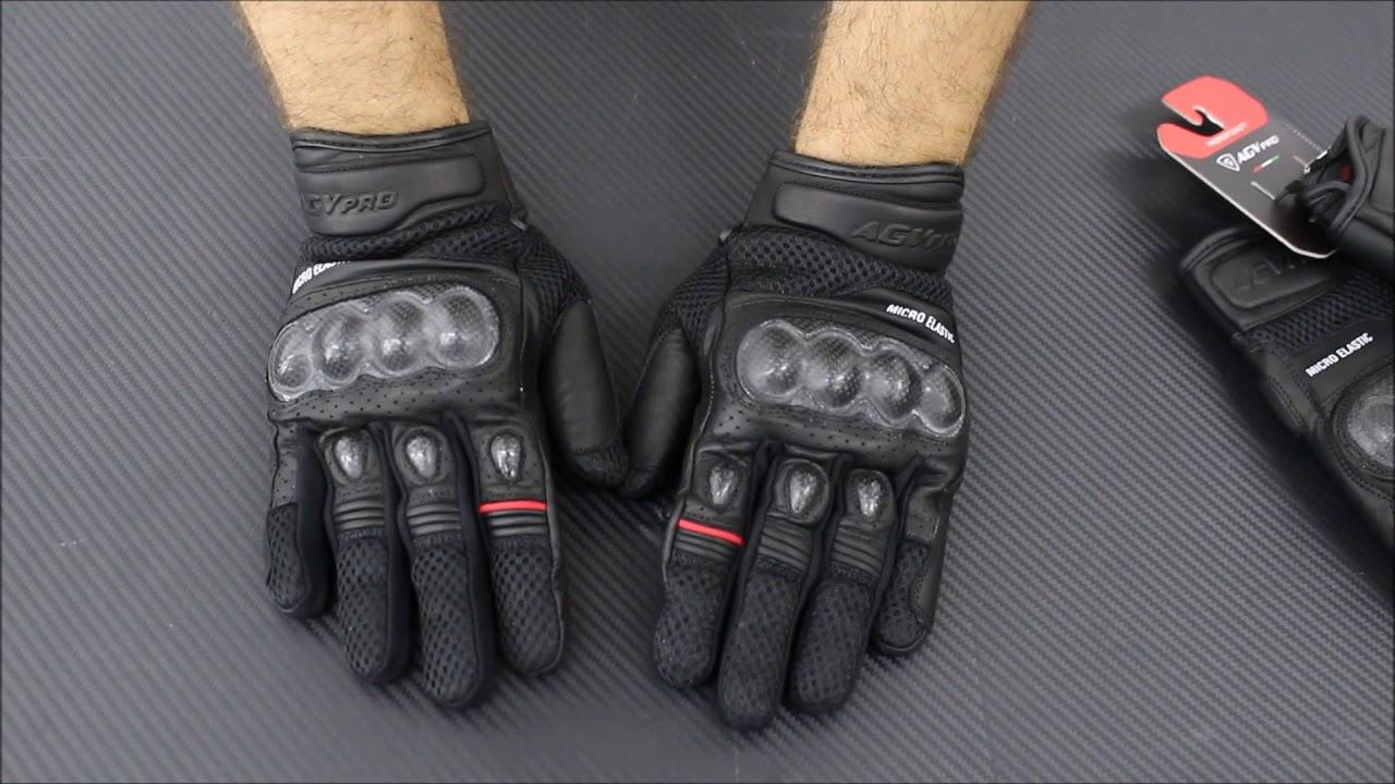 dddfbe275c Δερμάτινα γάντια μηχανής AGVpro CARBON Shift - YouTube