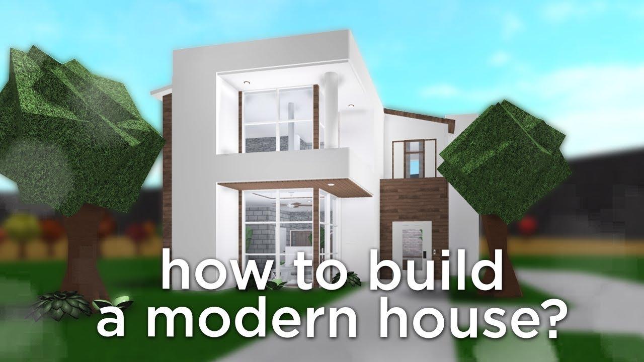 Modern Mansion Beginner Modern House Roblox Bloxburg Houses How To Build A Modern House In Bloxburg Youtube