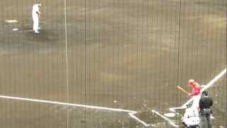 2012年2月26日アイビースタジアムでのソフトバンクv.s.広島カープのオープン戦です。広島カープ 末永のバッティングです。ピッチャーはソフトバンクの山田です。ファール ...