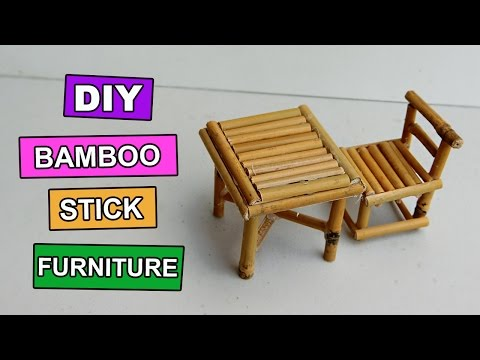 Diy Bamboo Stick Table And Chair Mini Furniture 5 You